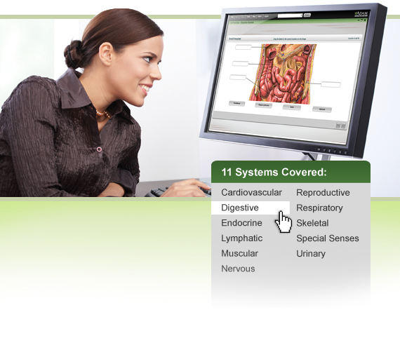 A.D.A.M. Interactive Anatomy Online Lab Exercises